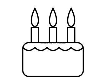 Birthday Cake Svg Etsy
