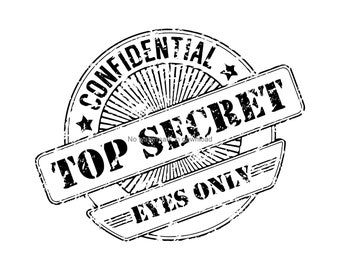 Confidential Svg Spy Secret Club Clipart Office Cut File Top Sign Stamp Clip Art Dxf