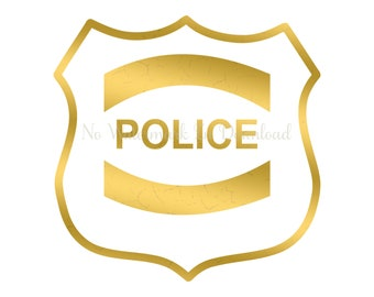 Gold police badge   Etsy