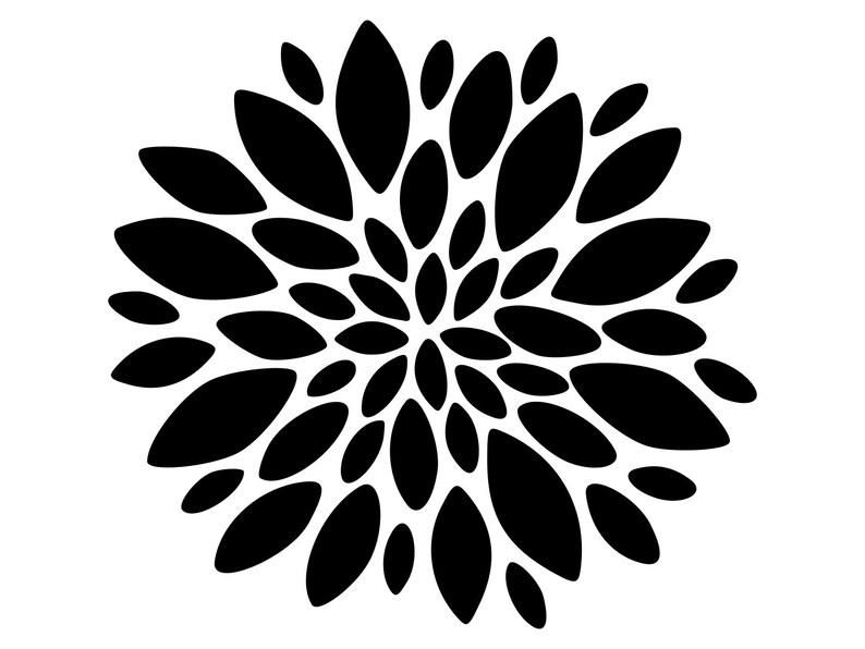 Dxf Flower Dxf Cut File Svg File Svg Cutting Files Flower Svg Files Flower Svg Floral Svg Flowers Svg Files Svg Cut File Clipart Vector