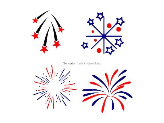 Fireworks Engrave Svg Fireworks Digital Clip Art Fireworks Cricut Svg Fireworks Cut Files For Cricut