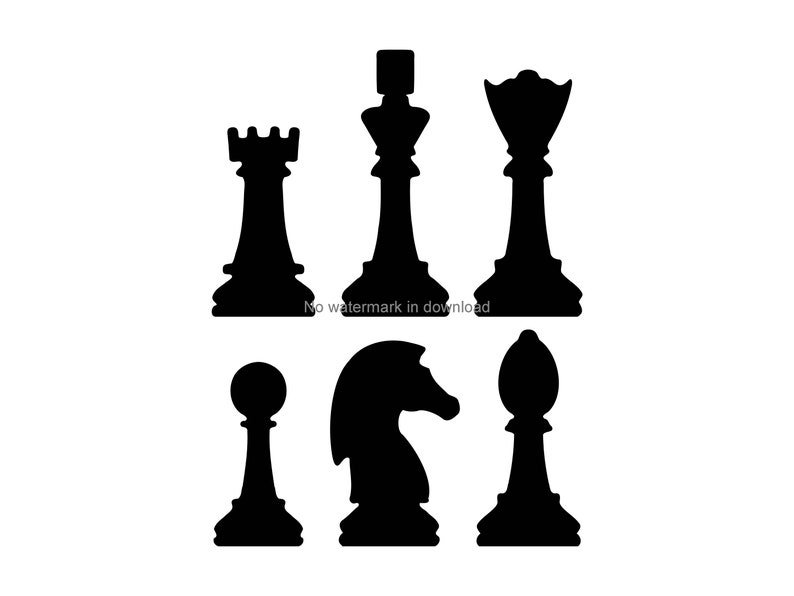 image relating to Printable Chess Pieces identified as Chess Areas Printable Clipart, Chess Areas Vector Picture, Chess Components Iron Upon Svg, Chess Elements Data files For Cricut