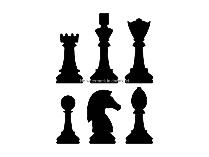 graphic about Chess Board Printable named Chess Areas Printable Clipart, Chess Areas Vector Graphic, Chess Elements Iron Upon Svg, Chess Elements Information For Cricut