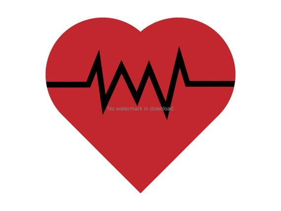 Rainbow Heartbeat Clip art Heart Vector Heart cricut Printable Heartbeat sticker Heartbeat Clipart Heartbeat svg Colorful Heartbeat svg