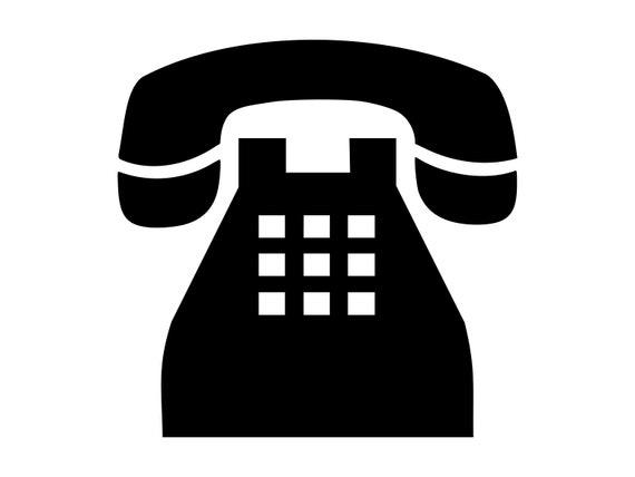 Telefon Svg Druckknopf Telefon Svg Silhouette schneiden   Etsy