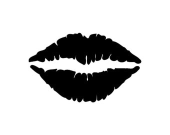 Lips Silhouette Cutting File Clipart Lips SVG Lips DXF Lips jpg Lips png LIps psd Photoshop Element Vector Lips