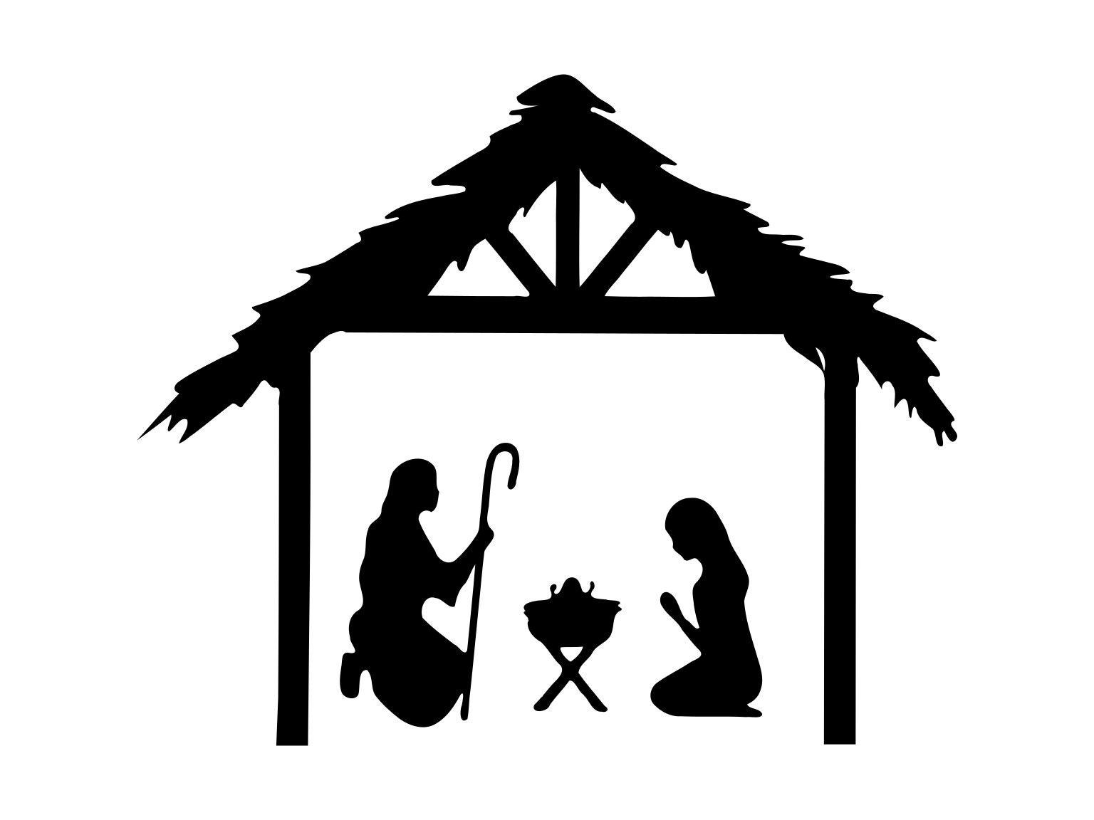 Nativity Svg Jesus Clipart Christmas Clip Art Nativity | Etsy