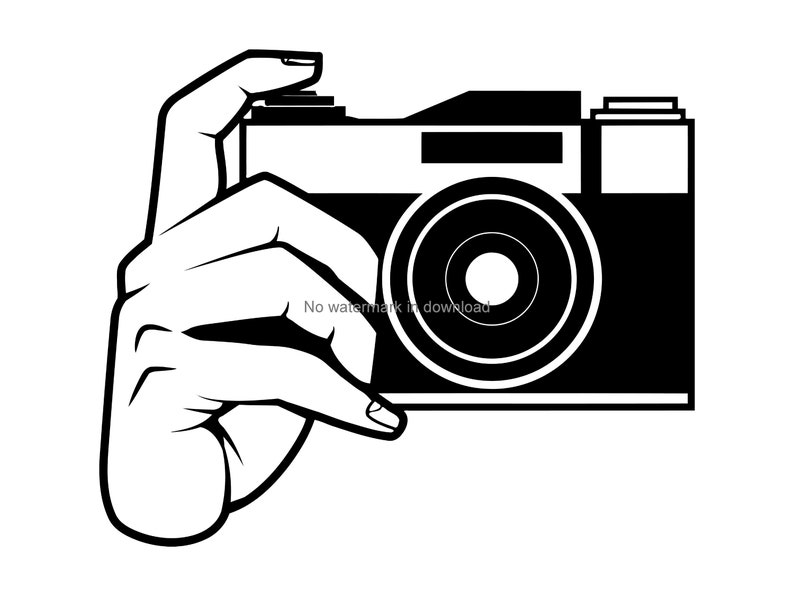 Camera Svg Cutting File Snapshot Vinyl Image File Camera Svg Dxf Png Camera Clipart Photography Laser Svg Camera Silhouette Cutting Svg