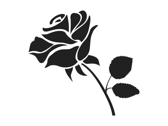 Rose Svg Rose Clipart Rose Clip Art Rose Silhouette Rose Svg
