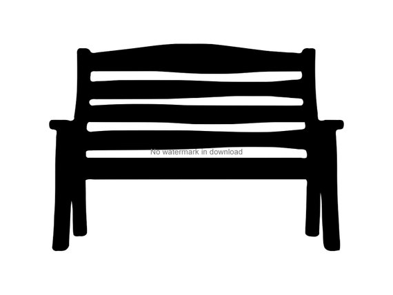 Bench Seat Dxf Cut File Bench Seat Printable Clipart Bench Seat Iron On Svg Bench Seat Cutting File