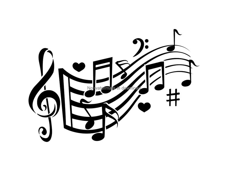 Music Clipart Music Clip Art Music Svg Love Music Theme