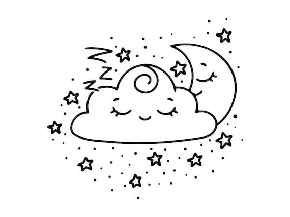 Bedtime Svg Moon Svg Girls Room Silhouettestars Clipart