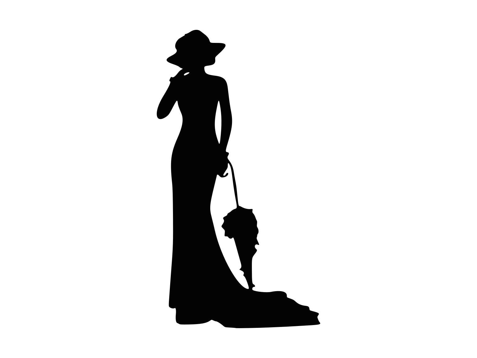 Vintage Lady Svg Elegant Lady Svg Lady Silhouette Cutting