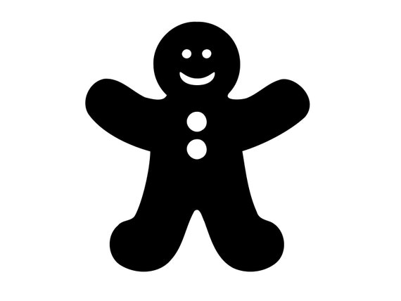 Gingerbread Man Svg Christmas Svg Gingerbread Svg Vector Etsy