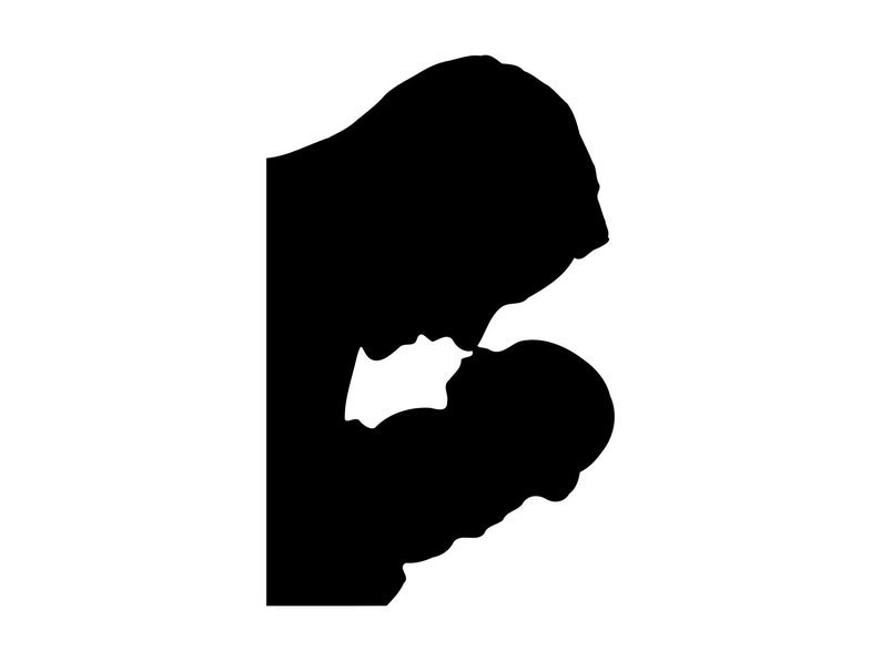 Father And Baby Printable Clipart Svg Png Eps Dxf Father And Baby Vector Files Father And Baby Silhouette Svg Fathers Day Svg Cut File
