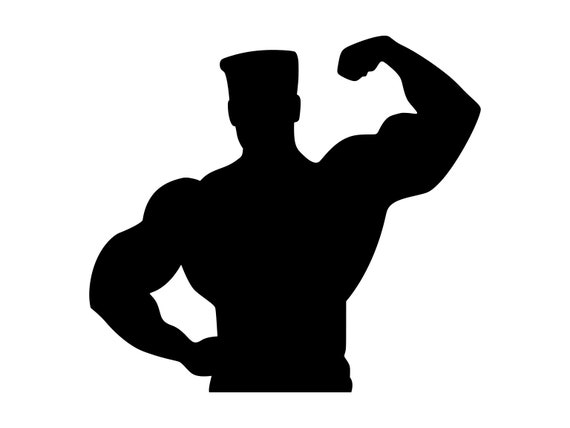 Muscle Man Svg Bodybuilder Clipart Gym Wall Art Body Builder Etsy