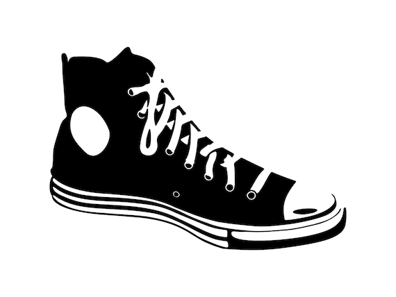 Sneaker svg Shoe Svg Silhouette Cutting File Clipart Svg Dxf  9b5235960