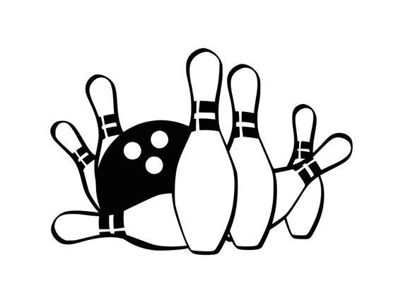 bowling svg bowling ball svg bowling clipart bowling cut file etsy