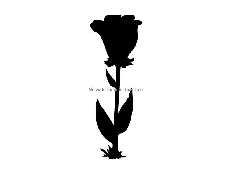 Rose Cut Files Rose Cutting Image Rose Digital Clip Art Rose Svg Dxf Png Rose Clipart Svg Rose Svg Clipart