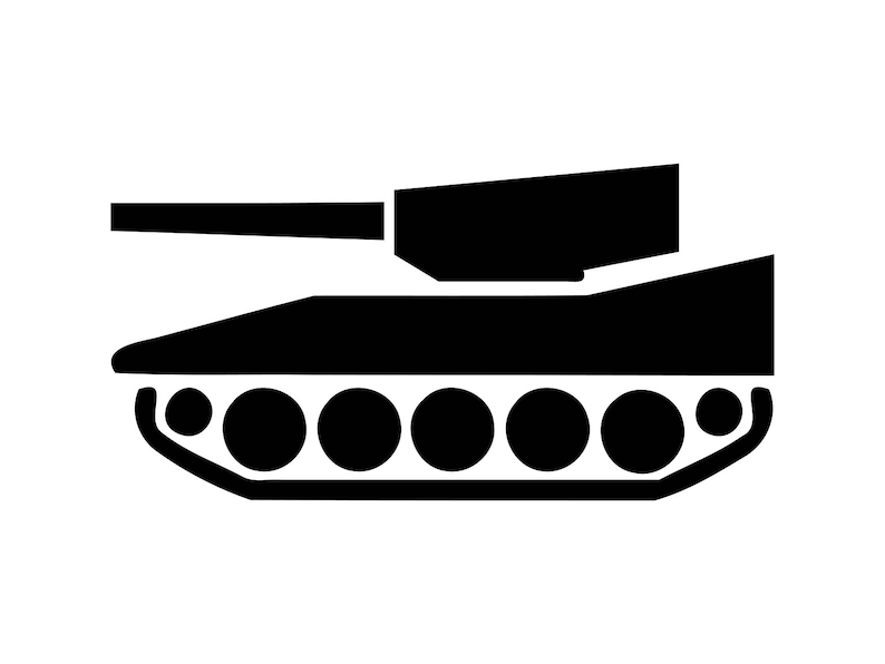 Tank Svg Army Tank Svg, Svg Files Silhouette Military Cut File Military  Tank Clip Art Dxf Clipart Laser Dxf File Cnc Engraving File