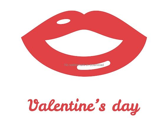 Valentine Lips Svg Image Valentine Lips Clipart Svg Etsy