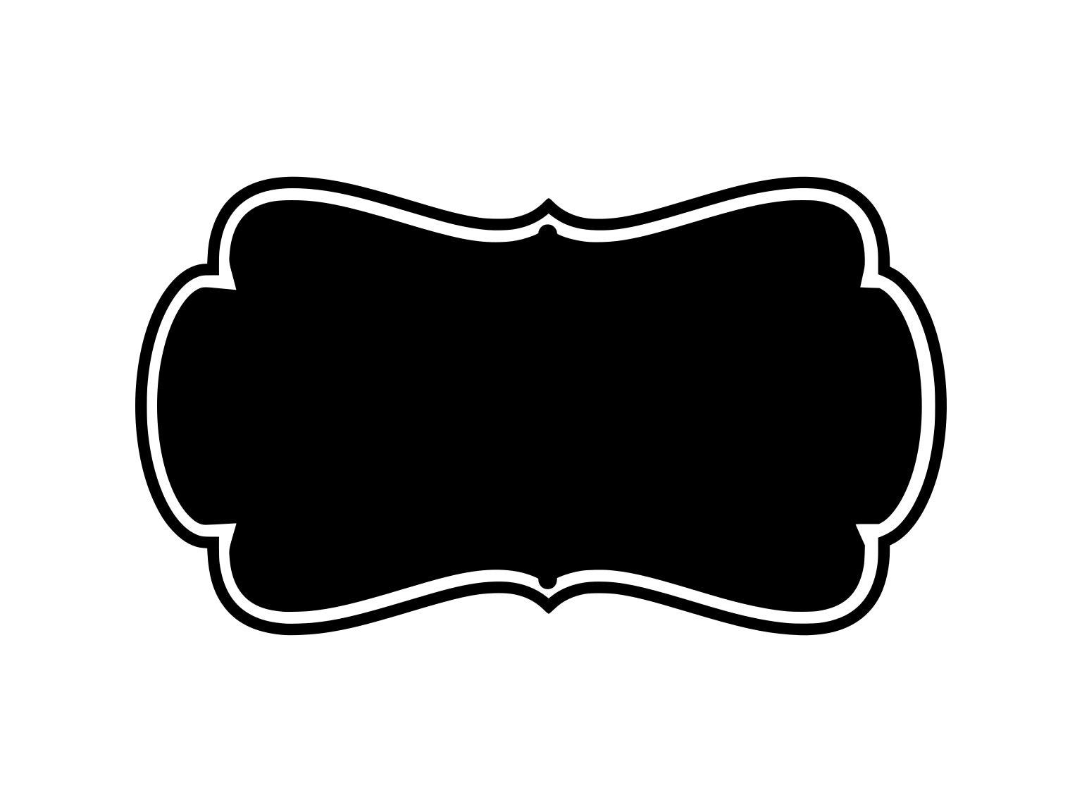 label frame svg label frame clipart frame clipart svg frame | etsy