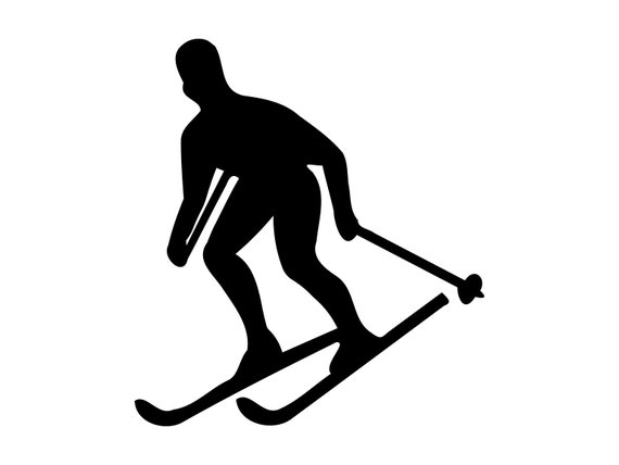Snow Skiing Svg Vector Skiing Svg Dxf Png Skier Clipart
