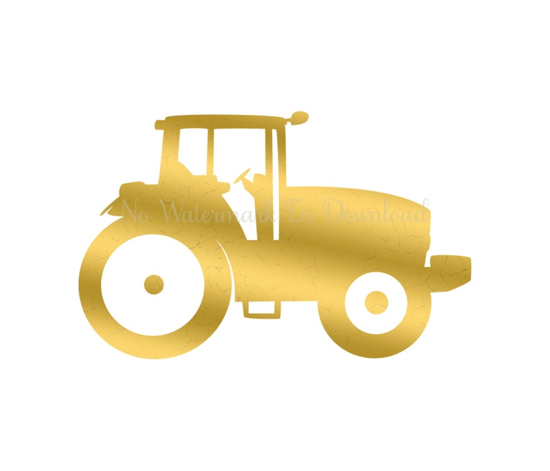 Tractor Image Tractor Gold Textured Tractor Gold Png Tractor Gold Printable Tractor Metallic Jpg Tractor Foil Label Image