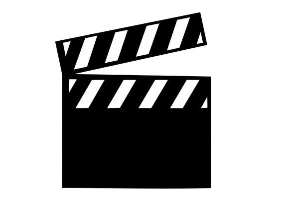 Movie Svg Clapper Board Svg Cinema Svg Movie Slate Dxf Film Etsy