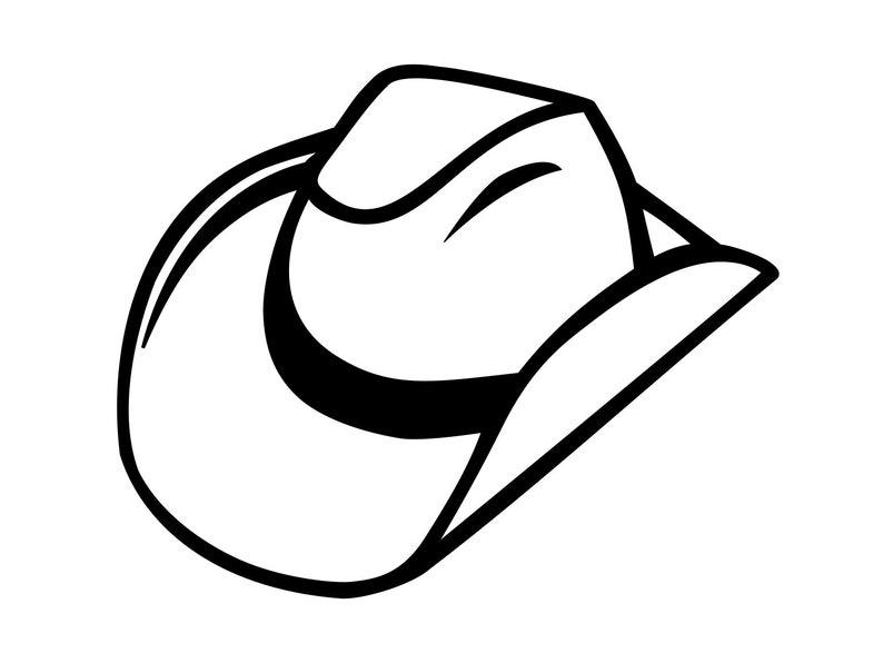 0c5377e122efe Cowboy Hat Svg Western Cowboy Hat Svg Clipart Svg Cutting File