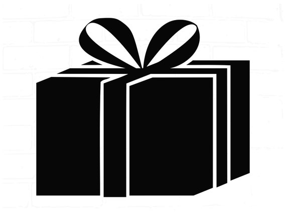 Gift Box Svg Holiday Gift Svg Gift Box Cut File Dxf Silhouette Etsy