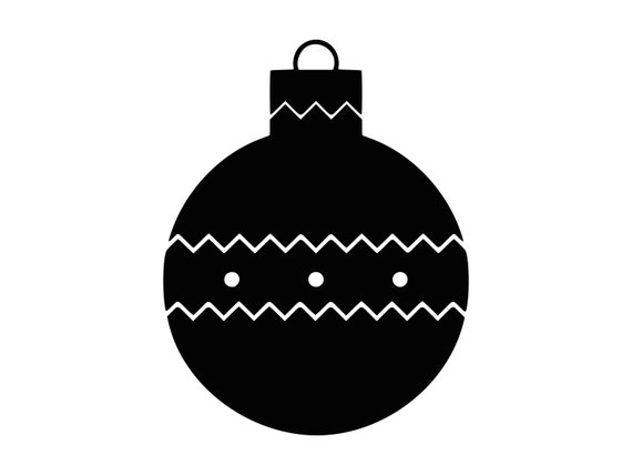 Christmas Ornament Svg Tree Ornament Clipart Svg Silhouette Cutting File Baubel Svg Dxf Ornament Png Cnc Laser Cut File Tshirt Vector