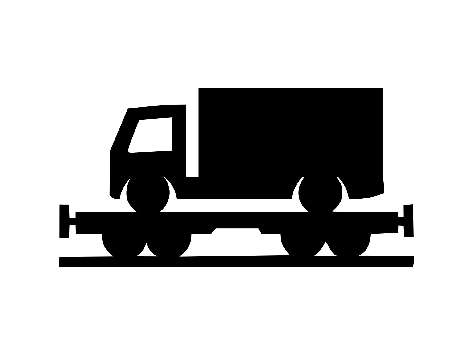 Flatbed Trailer Svg Towing Truck Trailer Svg Silhouette Etsy