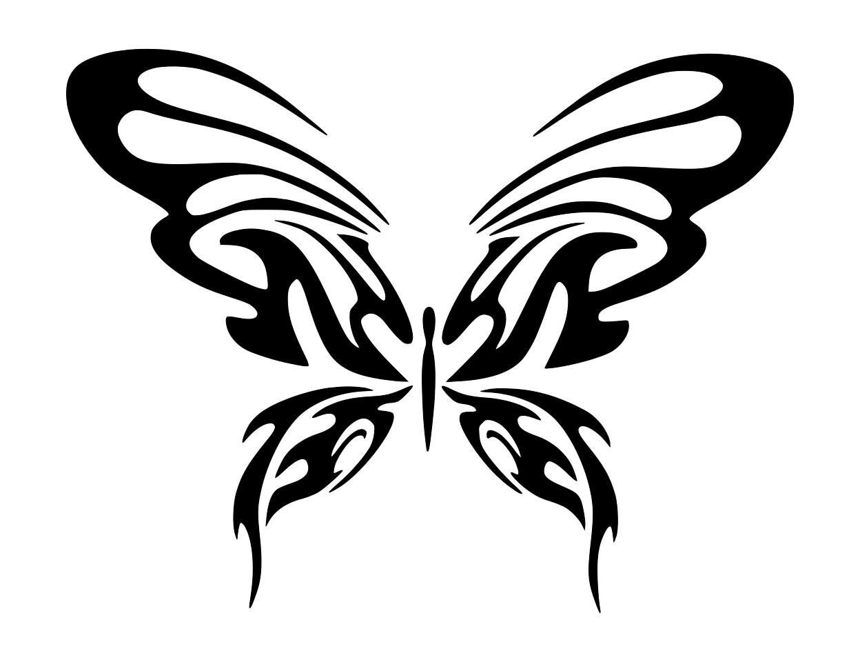 tribal butterfly tattoos - HD1248×960