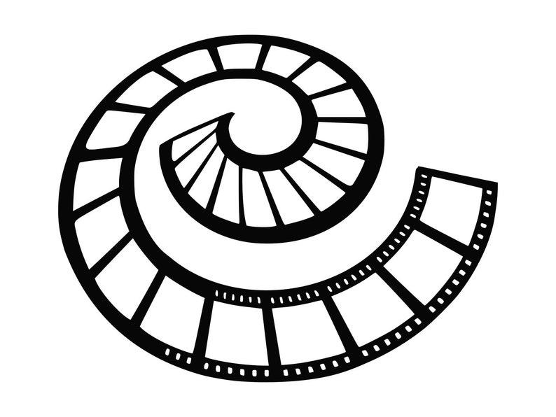 Movie Film Svg Film Strip Svg Silhouette Cutting File Clipart Etsy