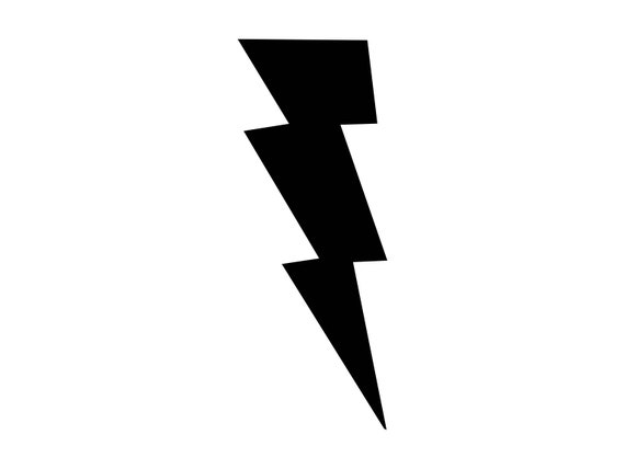 Lightning Bolt Svg Lightning Cutting File Lightning Strike Etsy