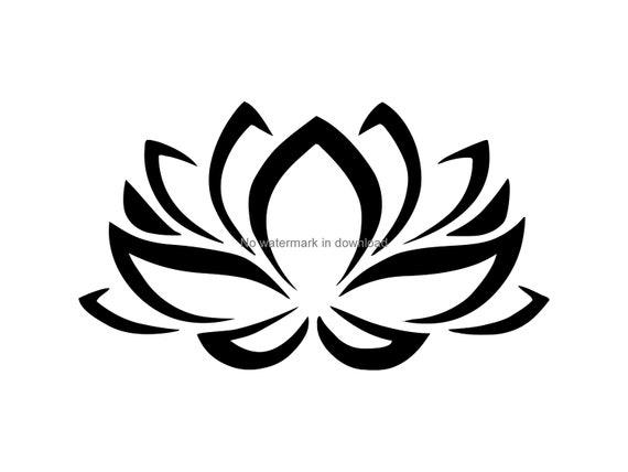 Lotus Flower Svg Cutting File Lotus Flower Digital Download Etsy