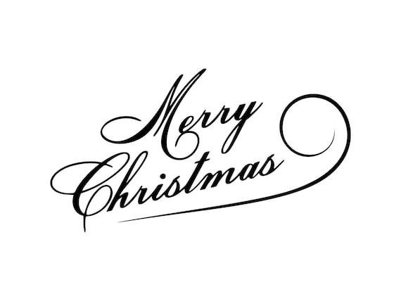 Merry Christmas Clip Art.Merry Christmas Svg Christmas Clip Art Christmas Words Clipart Merry Christmas Cut File Dxf Merry Christmas Png Merry Christmas Vector