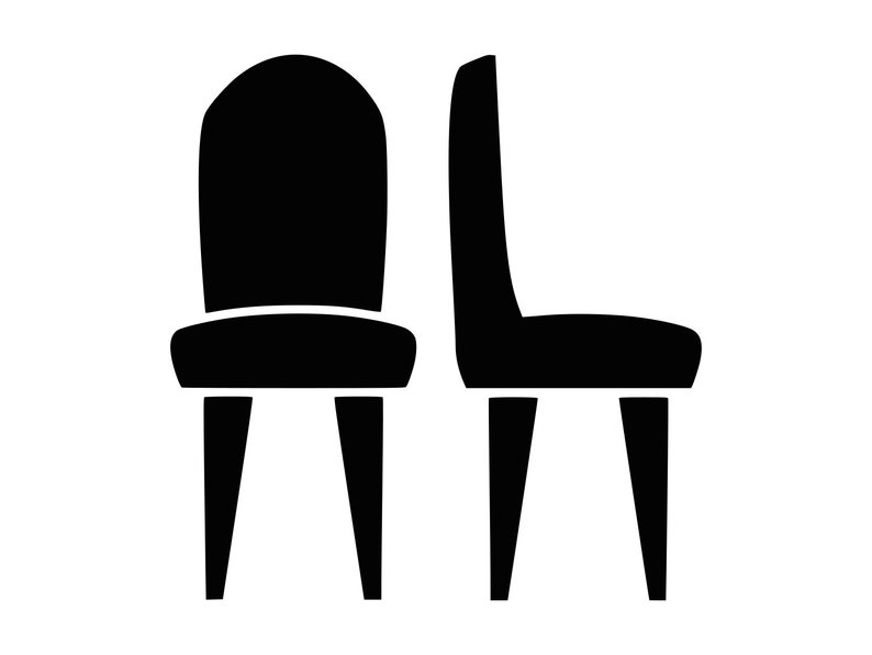 Chairs Svg Seating Furniture Svg Silhouette Cutting File Clipart Svg Dxf  Png Sure Cuts A Lot Inkscape Photoshop Cnc Laser Cut File Tshirt
