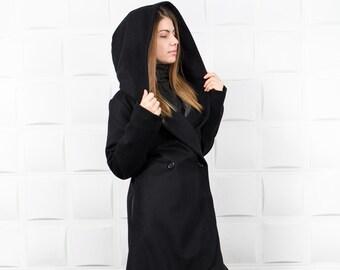 Warm Winter Coat/ Designer Coat/ Gift for her/ Warm Coat/ Trench Coat/Woman Long Coat/ Cashmere Coat/ C0016