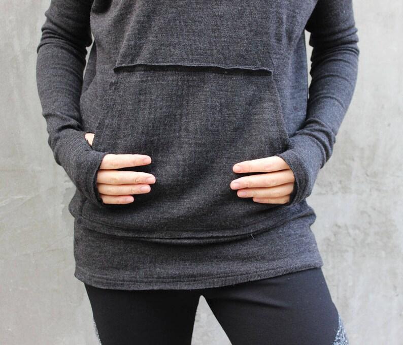 maxi loose tunic  B0049 oversize warm top warm tunic grey maxi sweater Extravagant sweater plus size warm top winter tunic top