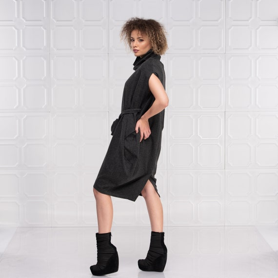 Midi Dress, Steampunk Dress, Plus Size Dress, Gothic Dress, Trendy Plus  Size Clothing