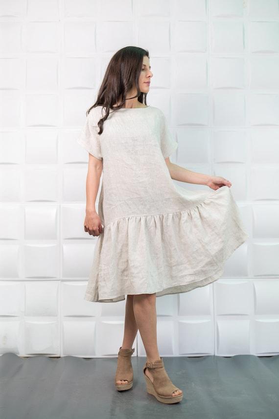 Linen Dress Linen Overalls White Linen Dress Plus Size Etsy