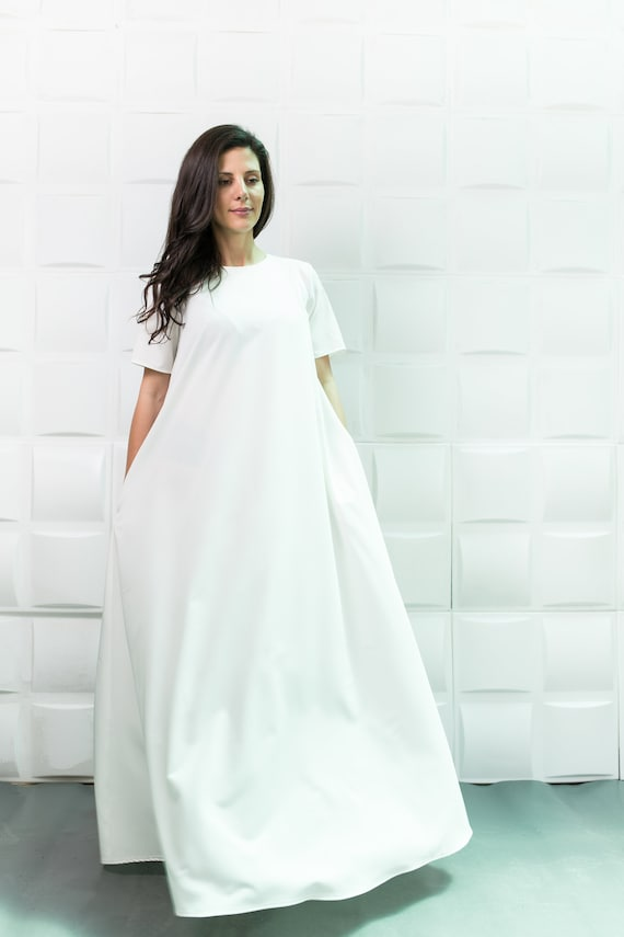 2ca1fc5b73e White Maxi Dress  Extravagant Dress  Plus Size   Caftan