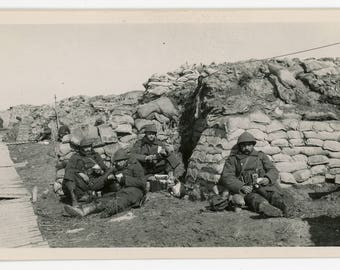 vintage photos 'WW I in Flanders, set of 9 battle locations, trenches, soldiers ruins Great War, 1st World War, Europe, Belgium