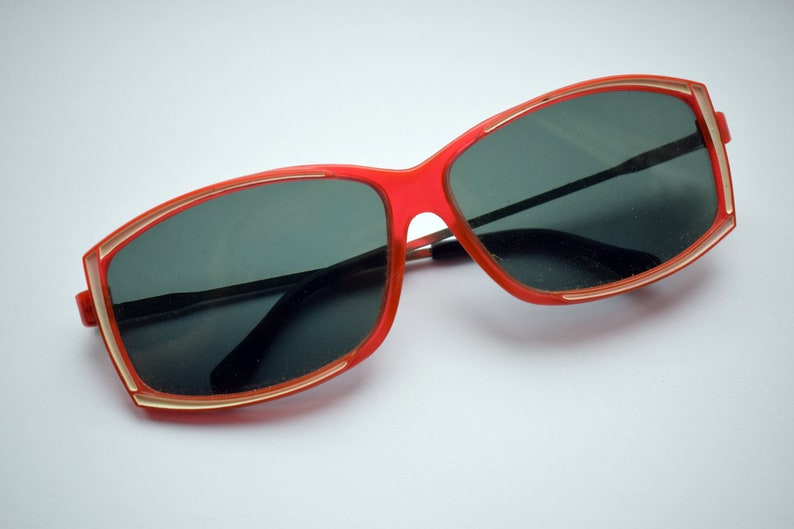 375afc953a Soviet vintage sunglasses with glass lenses Red Retro