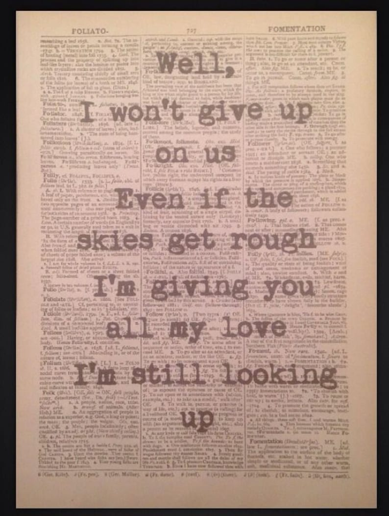 I wont give up on us song lyrics