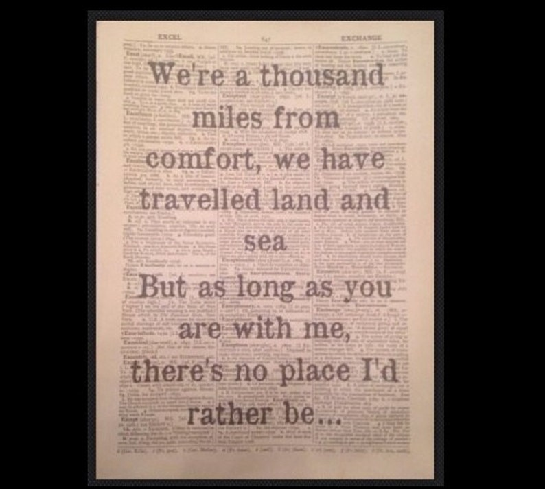 /'One Day Like This/' Elbow Lyrics Vintage Dictionary Page Wall Art Picture Print