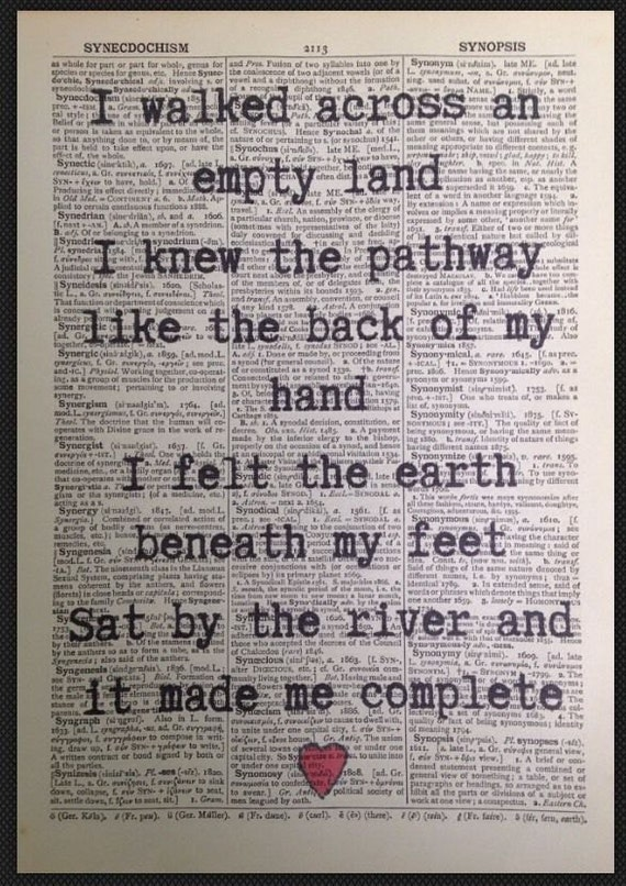 Amy Winehouse Quote Vintage Dictionary Print Picture Wall Art Diva Music Gift