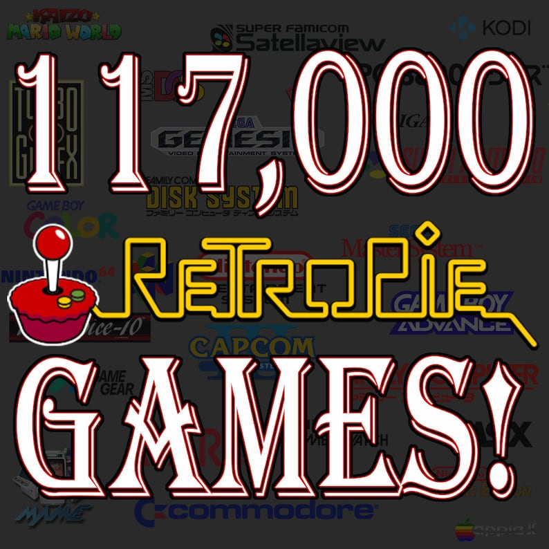 117,000 games - The ULTIMATE SD card! Works great with Raspberry Pi 3 B+ -  Has RetroPie and EmulationStation pre-installed and ready to go!!
